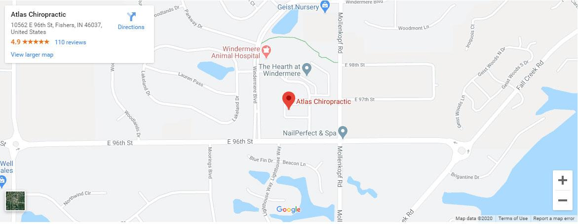 Get directions to Atlas Chiropractic in Fishers Indiana
